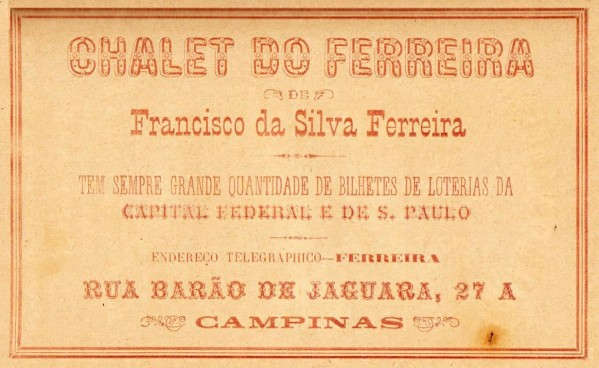 PPG - Almanaque 1899-1900 - Chalet do Ferreira